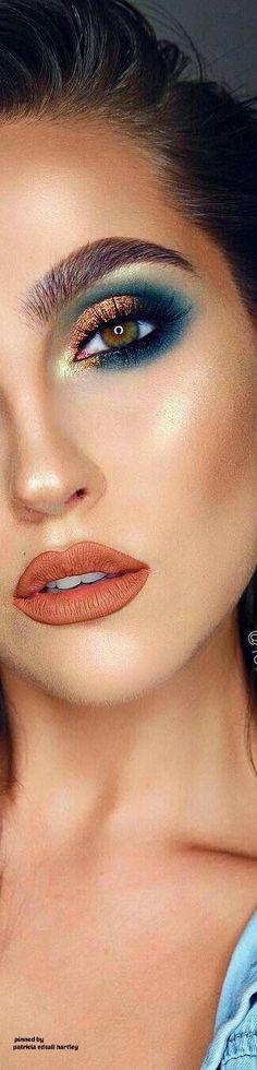 "Modern Eye Makeup Ideas/ Bold #chic # Creative eye shadow looks/ Follow me @ Melissa Riley- for more modern eye makeup ideas/ Ranked #1 on Google ""modern eye makeup ideas""/ Licensed cosmetologist , modern eye makeup ideas for 2018/ Modern women's chic fas"
