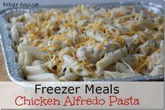 Chicken Alfredo Pasta, Pantry Challenge, Freezer Meals