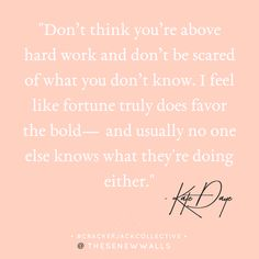 Wise words from an awesome female entrepreneur, Kate Daye, for the Crackerjack Collective