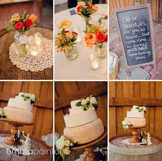 Cheese wedding cake with wooden stand