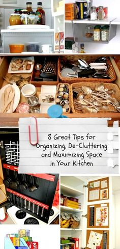 A bunch of great tips for organizing your kitchen!