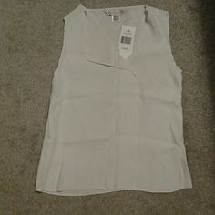 White French Connection Sleeveless Top Super cute brand new white top from French Connection. Perfect for work this Spring and Summer! French Connection Tops Blouses