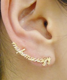 "ete : ■ete×一ツ山佳子 Collaborated Jewelry - Ear tattoo colleltion - ""make me crazy"" ■ 