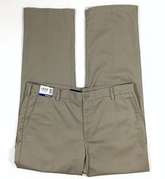 98c34a0035 Izod Heritage Chino Pants 38 x 34 Beige Straight Fit Flat Front Wrinkle  Free #Izod