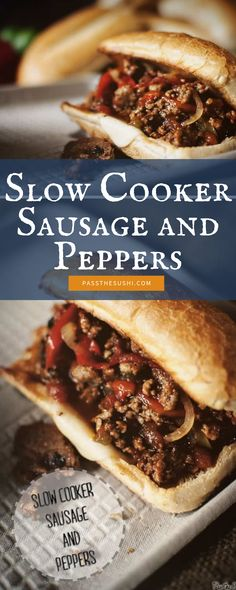 Because Sausage and Peppers aren't just for the grill top. This recipe is slow, savory, and you need to try making it, cause I'm not sharing. Sausage Crockpot Recipes, Slow Cooker Recipes, Cooking Recipes, Crockpot Ideas, Sausage And Peppers, Stuffed Peppers, Tailgate Food, Slow Cooker Soup, Dog Recipes