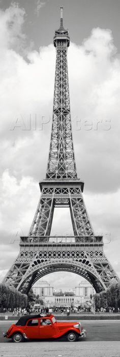 Paris - Red Car  #Photo #Travel