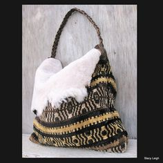 Ethnic Carpet Bag with Shearling