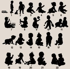 silhouettes babies