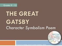 In the Great Gatsby, what language elements can I analyze?