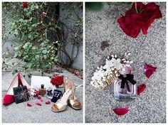 Summer reds for wedding details