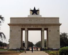 Independence arch in Accra (Ghana).