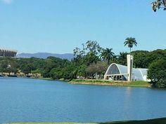 Lagoa da Pampulha em Belo Horizonte, MG