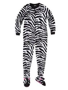 0435e70d29 Nick   Nora Women s Footed Pajama Sleeper 2XL Zebra Nick   Nora Onesie  Pajamas