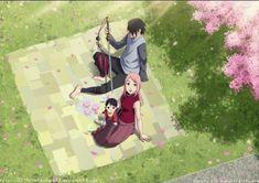 Sasuke and Sakura and Sarada Uchiha Naruto Minato, Naruko Uzumaki, Anime Naruto, Naruto Amor, Sasuke Sakura Sarada, Naruto Team 7, Naruto Fan Art, Naruto Funny, Naruto Shippuden Anime