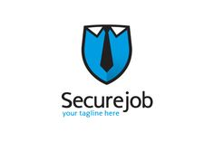 Secure Job Logo Template Design by gunaonedesign on @creativemarket