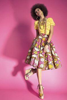 Lena Hoschek Online Shop ~African fashion, Ankara, kitenge, African women dresses, African prints, Braids, Nigerian wedding, Ghanaian fashion, African wedding ~DKK