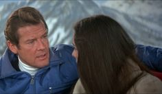 Roger Moore and Carole Bouquet in For Your Eyes Only Roger Moore, Film Base, 80s Movies, For Your Eyes Only, Film Review, Love Movie, James Bond, Documentaries, Couple Photos