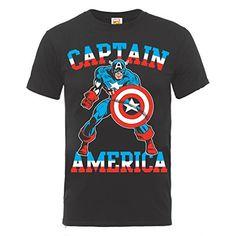 Marvel BILMC000143 - Camiseta manga corta, con manga corta para hombre, color negro, talla S #camiseta #starwars #marvel #gift