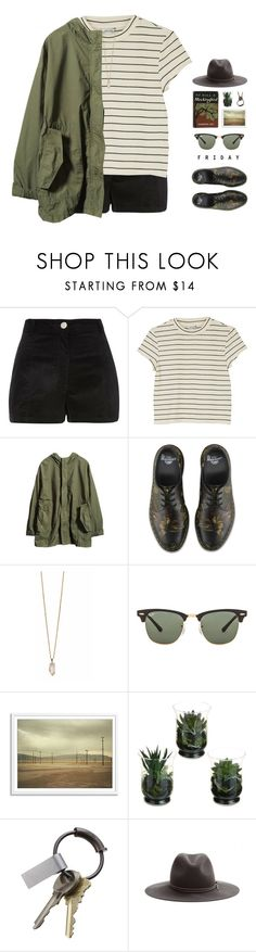 """""""// f r I d a y //"""" by theonlynewgirl ❤ liked on Polyvore featuring Monki, Dr. Martens, Zoya, Ray-Ban, CB2 and rag & bone"""