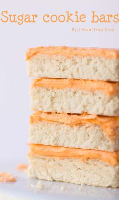 Sugar cookie bars from iheartnaptime.net -super easy and delicious!! #recipes #desserts Sugar Cookie Bars, Best Sugar Cookies, Brownie Cookies, Bar Cookies, Cookie Desserts, Chocolate Chip Cookies, Best Cookie Recipes, Bar Recipes, Dessert Recipes