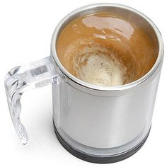 Lazy people, rejoice! Ditch your spoons with this self-stirring mug ($19).