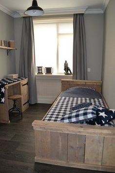 trendy boy room , this is trendy and modern because its simple but elegant: