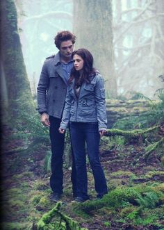 """Bella to Edward: """"I know what you are."""" Edward to Bella: """"Say it... Out loud."""" Bella to Edward: """"Vampire."""" Bella finds out that Edward is a vampire in the forest with Edward"""