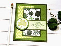 St Patricks Day Cards, Happy St Patricks Day, Saint Patricks, Irish Celebration, Irish Blessing, Stampin Up Cards, Cricut Cards, Card Sketches, Custom Cards