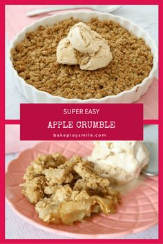 Easy Apple Crumble The ultimate Super Easy Apple Crumble! This really is the perfect winter dessert. The ultimate Super Easy Apple Crumble! This really is the perfect winter dessert. Winter Desserts, Easy Desserts, Delicious Desserts, Dessert Recipes, Yummy Food, Easy Snacks, Apple Recipes, Sweet Recipes, Baking Recipes