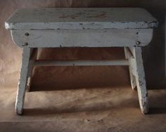 Vintage Rustic Chippy Step Stool Bench 1920s Deco by JBHoffmantwo, $50.00