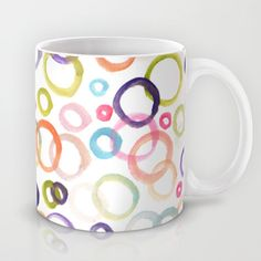 painted circle patterned Mug by Aticnomar - $15.00 Circle Pattern, Mugs, Tableware, Dinnerware, Tumblers, Tablewares, Mug, Dishes, Place Settings
