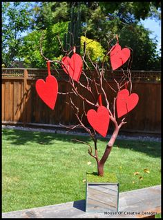Queen of hearts Wishing Tree for Alice in Wonderland party