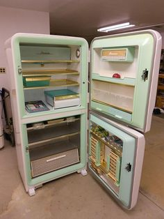 This 1956 Amana refrigerator has never been used and is in perfect working condition. For sale on eBay.