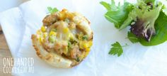 Chicken & Leek Bread Pies – One Handed Cooks – Alejandra Nucette – Homemade baby foods Toddler Finger Foods, Toddler Meals, Kids Meals, Toddler Food, Toddler Recipes, Baby Meals, Baby Finger, Baby Food Recipes, Cooking Recipes
