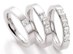 Wunderschöner Memory Ring Weißgold mit Brillanten by verlobungsring.de #love #wedding #memory