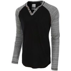 LE3NO Mens Long Sleeve Color Block Crewneck Henley Shirt ❤ liked on Polyvore featuring men's fashion, men's clothing, men's shirts, men's casual shirts, men's curved hem t shirt, mens henley shirts, mens long sleeve shirts, mens cotton shirts and mens longsleeve shirts