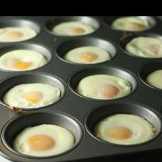 Smart: freezer egg McMuffin sandwiches for busy mornings: Lightly grease muffin tins + crack one egg in each well. Stick these in a 350 degree oven for about 15-20 minutes. Assemble: whole wheat English muffins + egg + cheese + Canadian bacon/ham/sausage, wrap and freeze