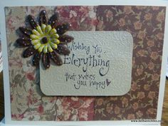 Birthday or friendship card
