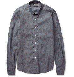 BespokenSlim-Fit Printed Cotton Shirt $436 on Mr Porter