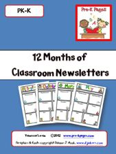Printable editable classroom newsletters in PPTX format for your preschool, pre-k, Head Start, or kindergarten classroom. Class Newsletter, Kindergarten Newsletter, Preschool Newsletter Templates, Weekly Newsletter Template, Classroom Newsletter, Free Preschool, Preschool Lessons, Preschool Classroom, Teacher Tools