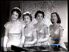 ♫ The Chordettes ♪ Lollipop ♫ Video & Audio Restored  [Look who's doing the clapping at the end of the song!]  (: