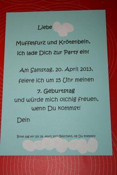 Olchi Einladung