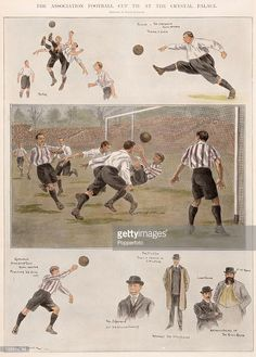 A vintage colour illustration featuring the English FA Cup Final between Sheffield United and Southampton played at Crystal Palace in London, April The central image shows the Sheffield. Best Football Team, Retro Football, Football Art, Sir Alex Ferguson, Association Football, Fa Cup Final, Most Popular Sports, Sheffield United, Long Shot