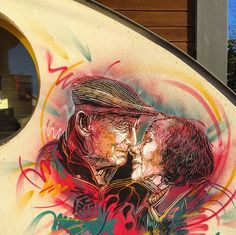 I like to imagine that this is going to be their first kiss . . . that he has been waiting 30+ years for this moment . . . and now, finally, it has come. -burntG  [art by C215, 2014]