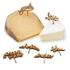 Add a charming touch to your fromage flight and eliminate guests' guesswork with these playful picks.