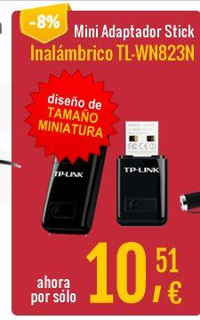 TP-Link #MiniAdaptador Inalambrico USB N TL-WN823N 300Mbps. 04/12/2015 - Bye bye Paypal  http://www.opirata.com/tplink-mini-adaptador-inalambrico-tlwn823n-300mbps-p-9860.html