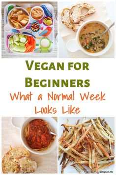See what a normal week's vegan meal plan looks like for some beginners! See what we buy and the meals we've been enjoying as we make this transition. Easy Meal Prep, Easy Healthy Dinners, Easy Dinner Recipes, Dinner Ideas, Easy Desserts, Dinner Healthy, Vegan Recipes Beginner, Recipes For Beginners, Healthy Recipes