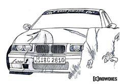 #bmw #e36 #drawing #zeichnung