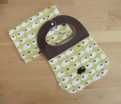 Organic Baby Bib and Burp Cloth Set