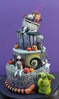 Cake Wrecks - Home - Sundays Sweets: Tim Burton Treats! Nightmare Before Christmas By Dina Cimarusti Cakes